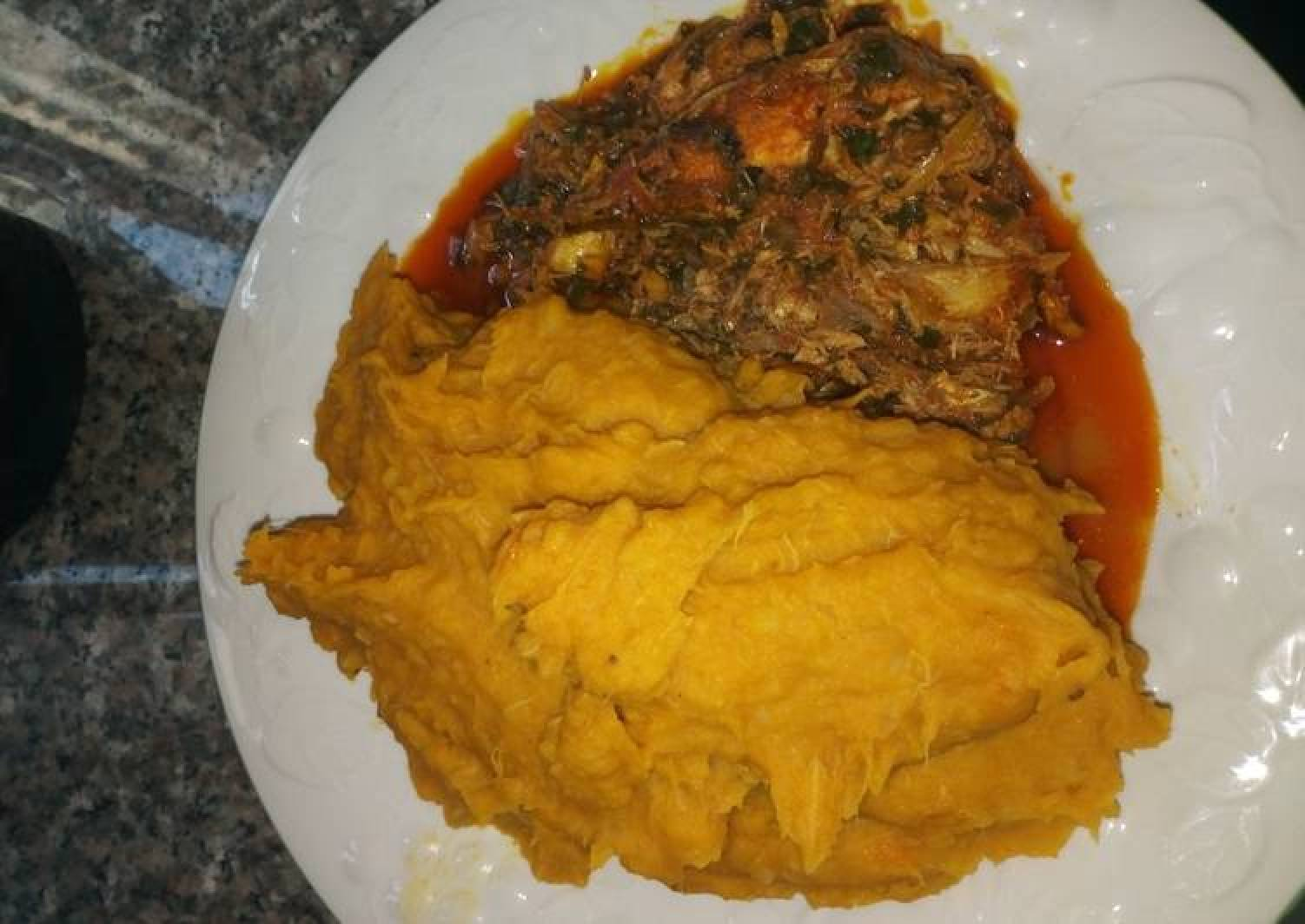 Temburu with Catfish Stew