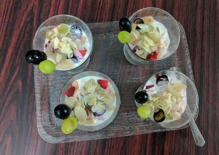 Steps to Prepare Favorite Mixed fruit dessert