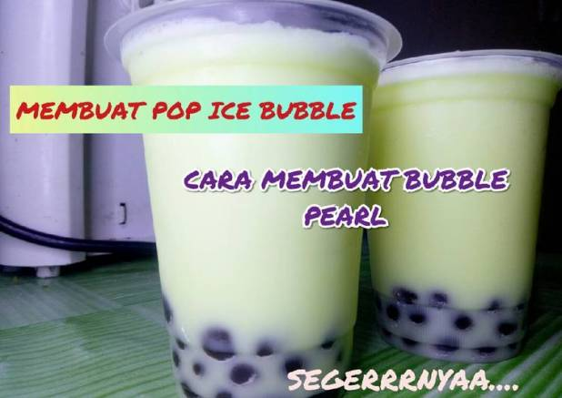Pop ice bubble. cara membuat bubble pearl. minuman buka puasa