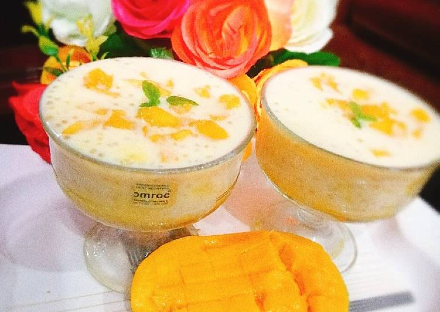 Mango tapioca drinks🥭