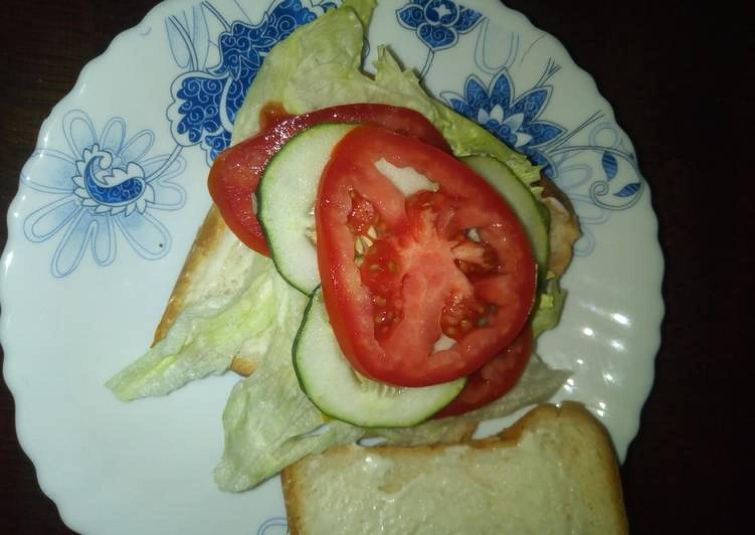 Lettuce sandwich #4weeksChallenge