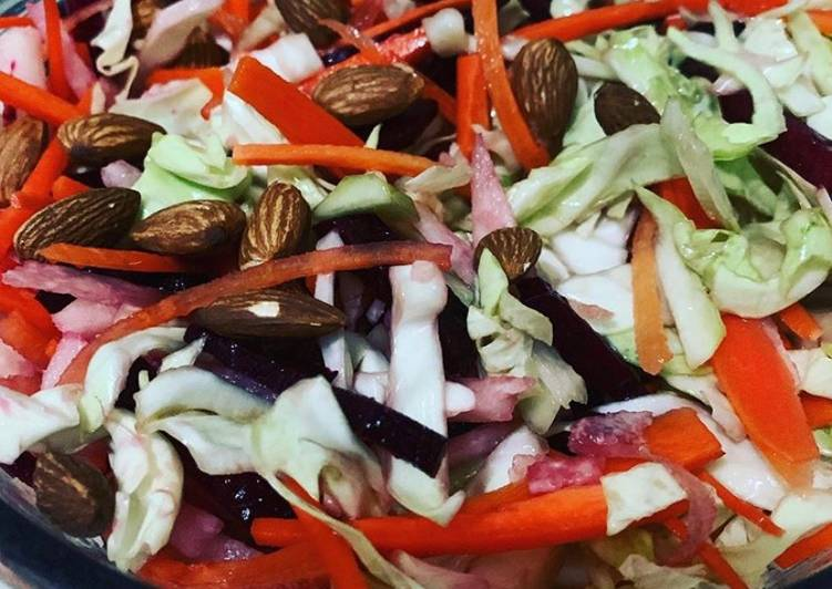 How to Prepare Any night of the week Balsamic Cabbage Salad w/ Almonds