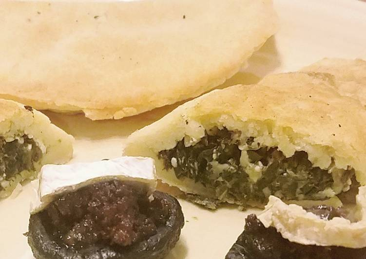 Fried Spinach feta Hand Pies