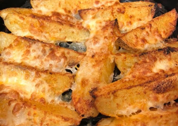 15 minute cheesy potato wedges