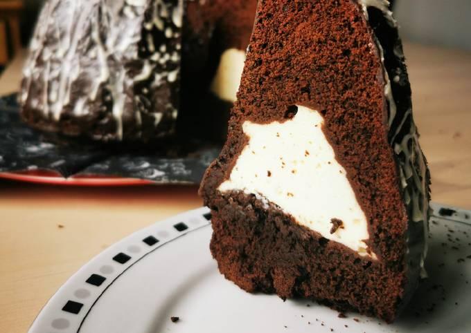 Rezept Um Schnell Gewinnende Zartbitter Gugelhupf mit Tonka Käsekuchenfüllung zuzubereiten