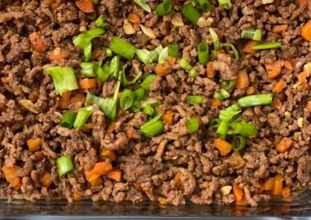 Tumis daging cincang wortel
