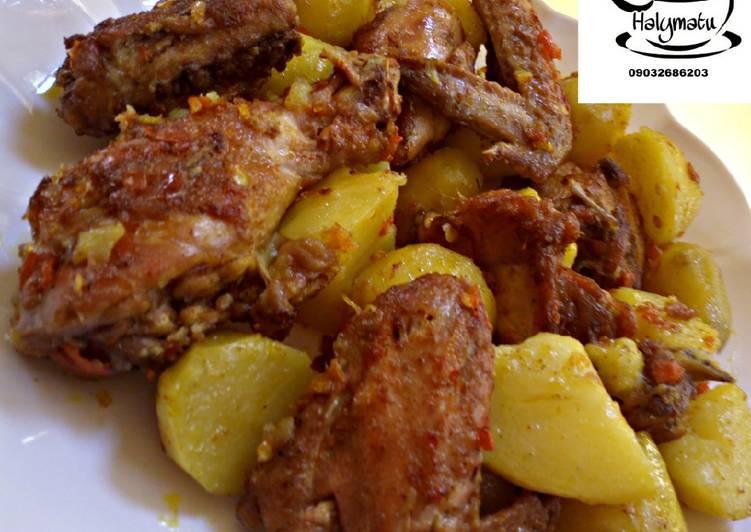 Peppered Chicken n potato