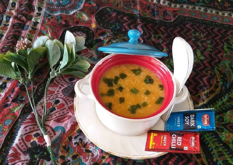Chicken vegetables soup healthy and tasty delishes soup