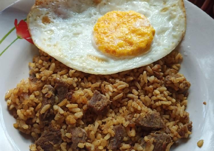 Nasi goreng rempah (daging kerbau)