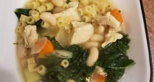 Healthy detox chicken soup