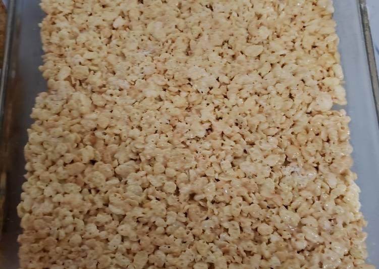 Brown Butter Bourbon Rice Crispy Treats