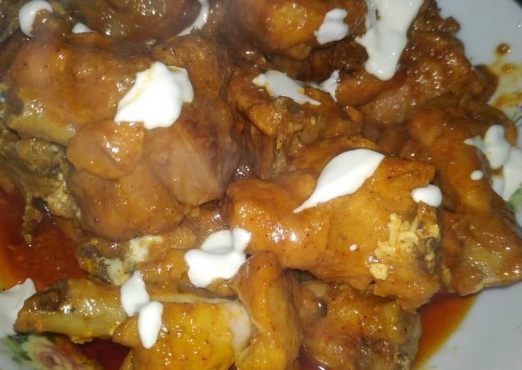 Chicken tikka creamy khradhi