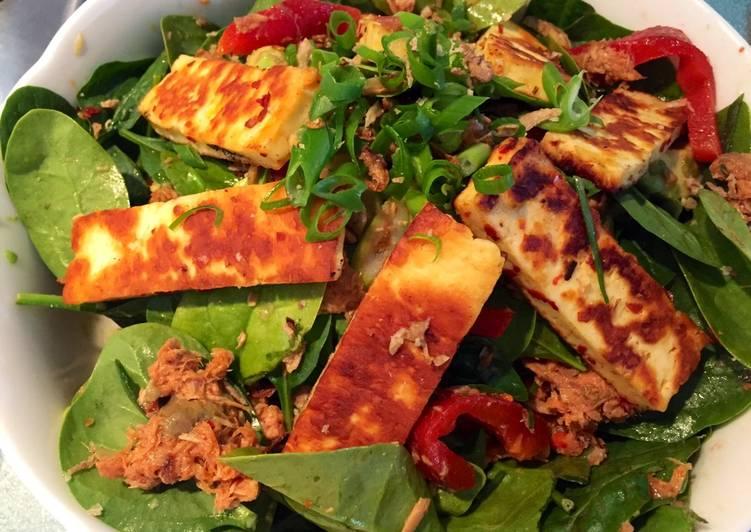 Chilli Halloumi and Tuna Salad