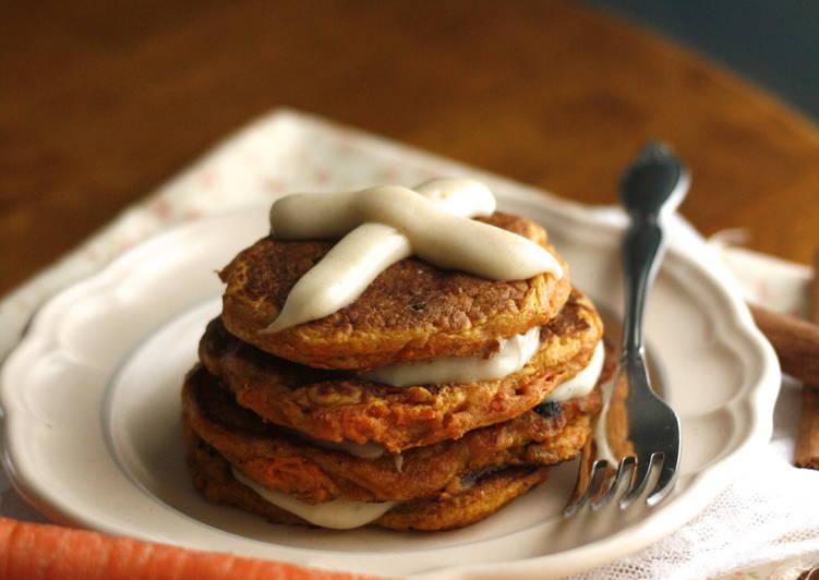 Hot Cross Carrot Cake Pancakes
