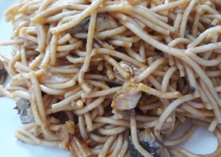 Spagetti with sardine