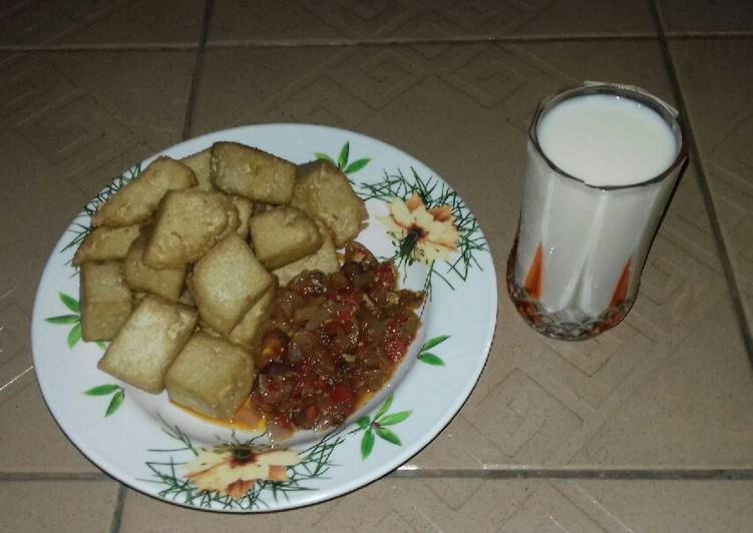 Awara and soya milk