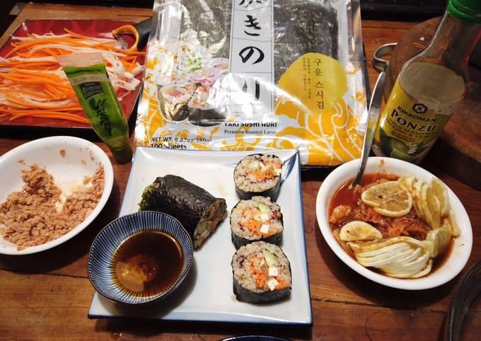 Mostly Vegan Sushi—Thai Style Kimbap