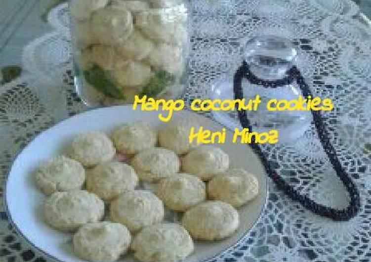 Mango coconut cookies
