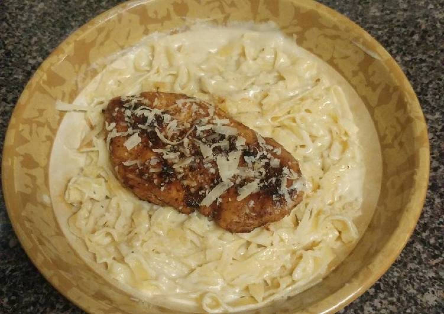 Blackened Chicken Fettuccine Alfredo