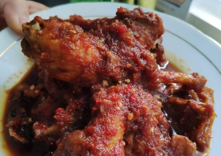 Ayam bumbu rujak (pedes,manis,asem)👍