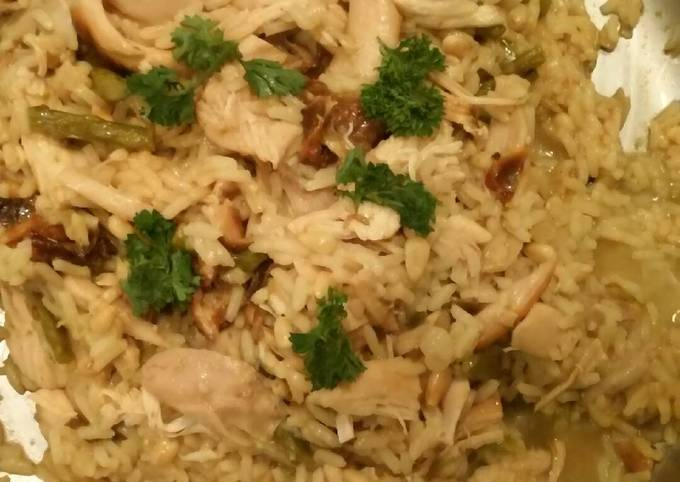 Steps to Make Favorite Rotisserie chicken and yellow rice