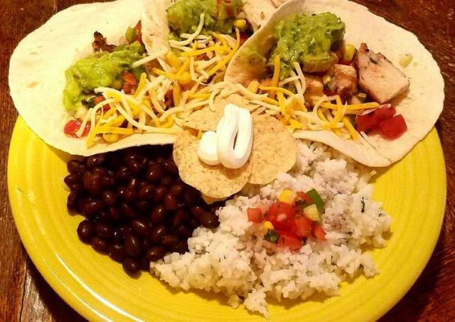 Mayan inspired Fiery Chicken Tacos