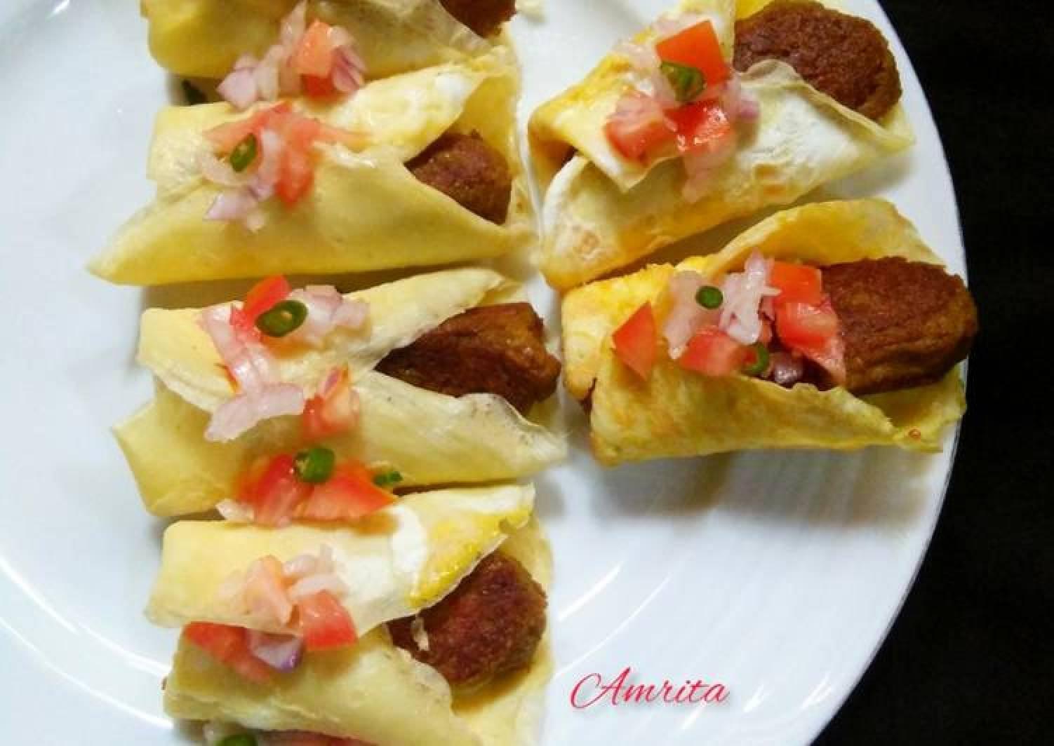 Omelette Soya stick Tacos
