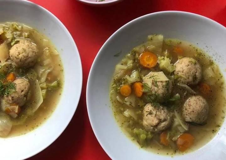 Loaded Matzo Ball Soup