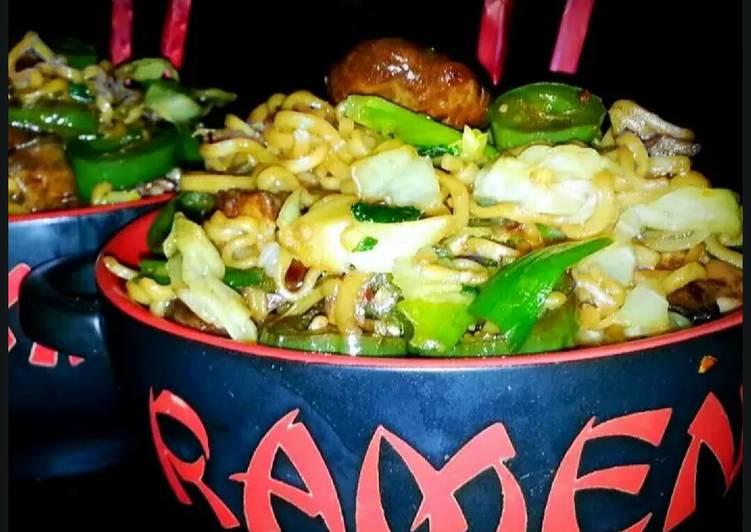 Mikes Pan Fried Ramen Noodles