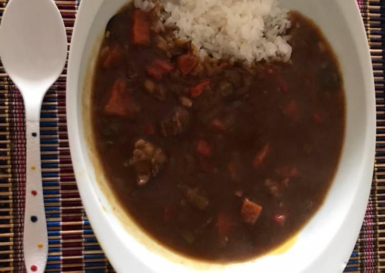 Super easy Japanese curry rice- pressure cooker