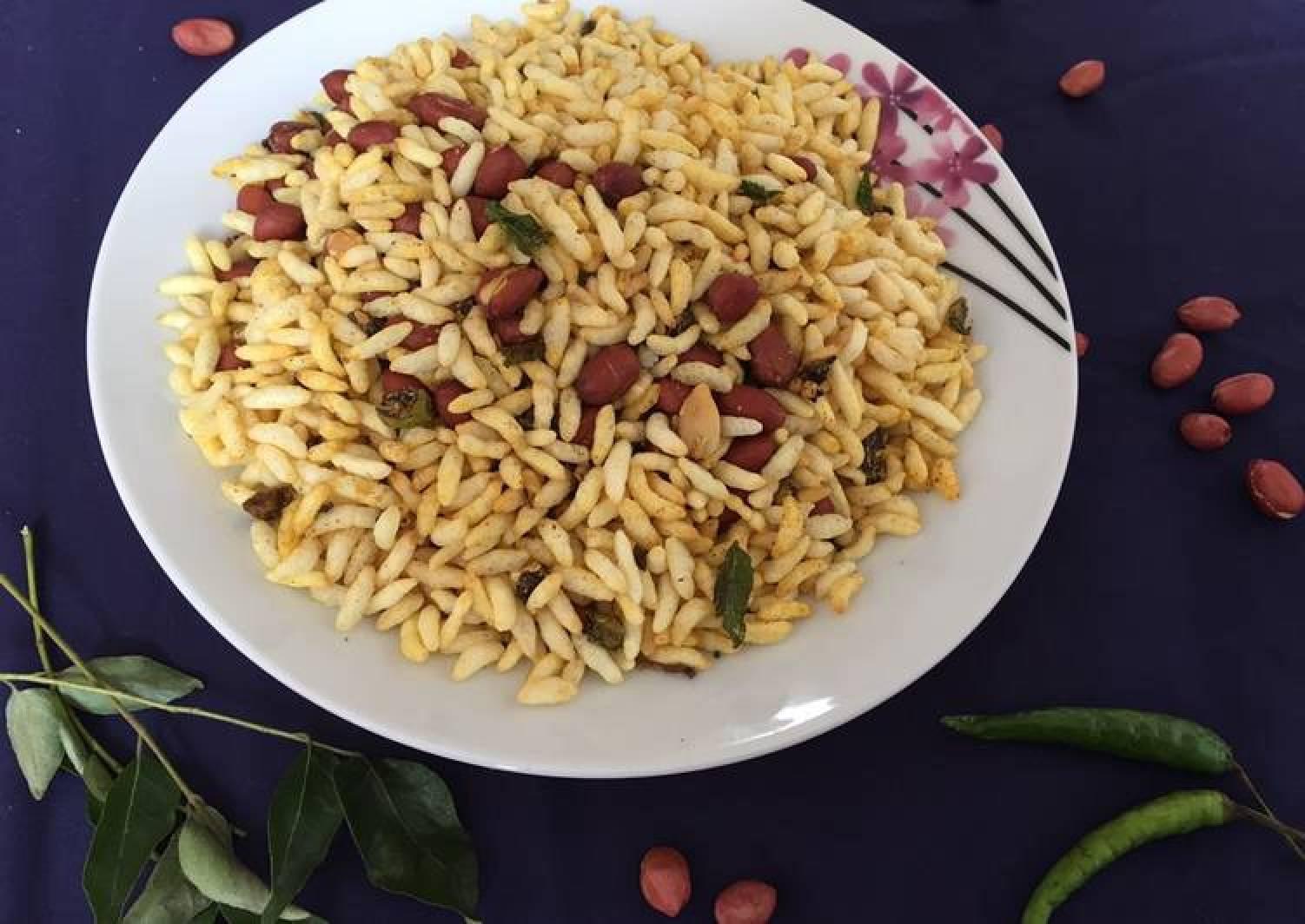 Crunchy peanut puffed rice