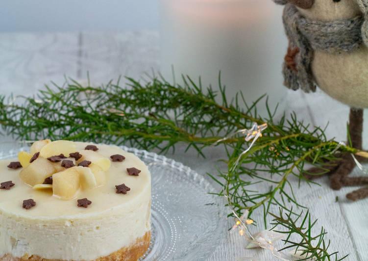 Cheese-cake végétal poire-amande