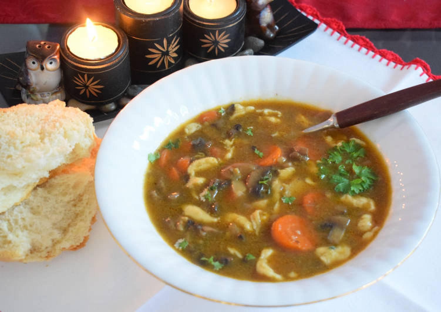 Eva's spicy mushroom soup