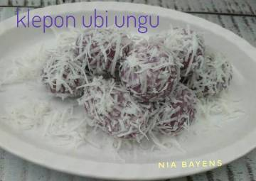 Resep Klepon ubi ungu 🍠