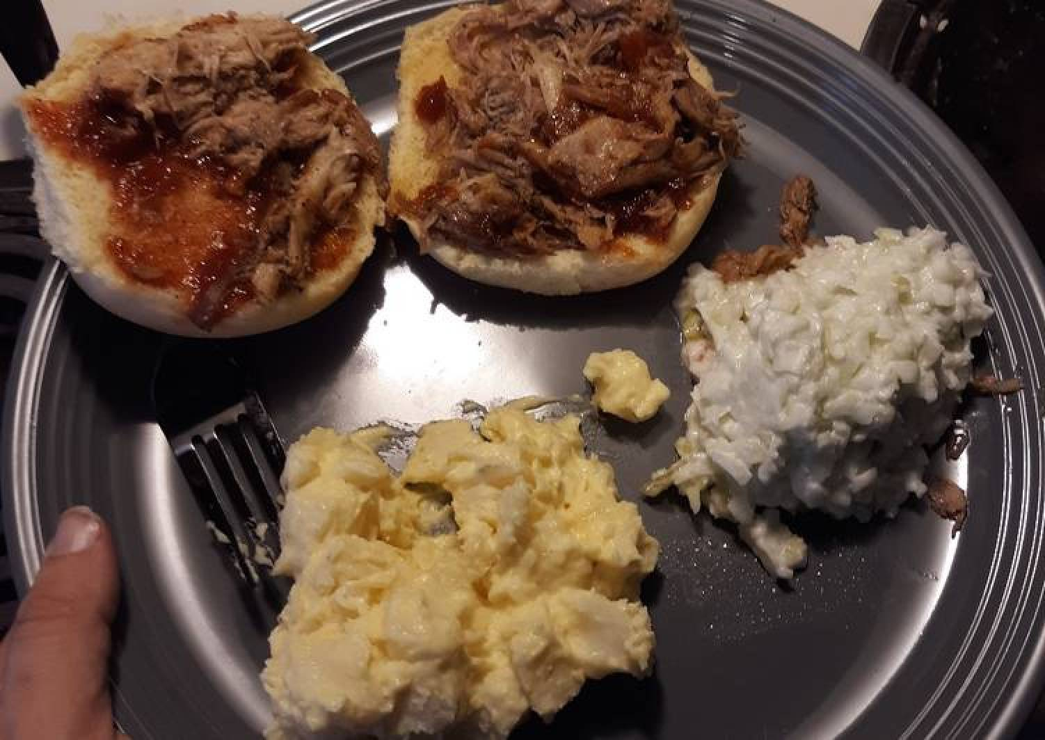Carolina style slow cooker pulled pork