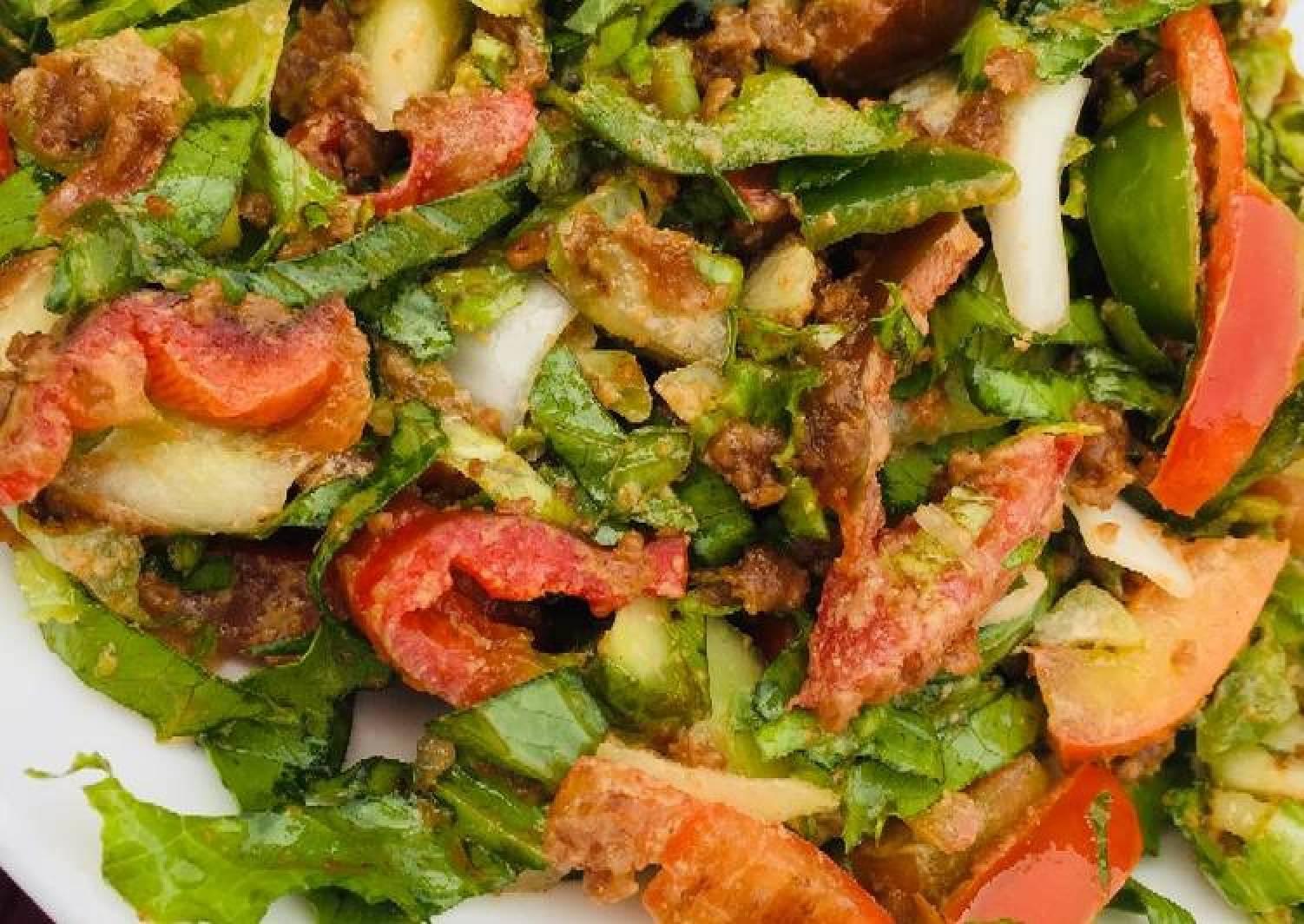 Lettuce salad (locally)