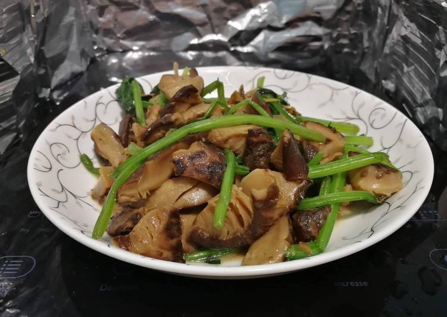 Shiitake Mushrooms And Spinach