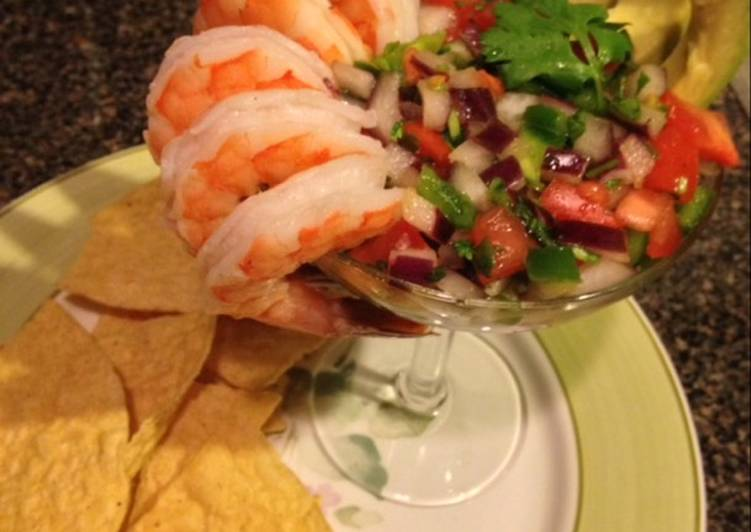 Shrimp cocktail ceviche