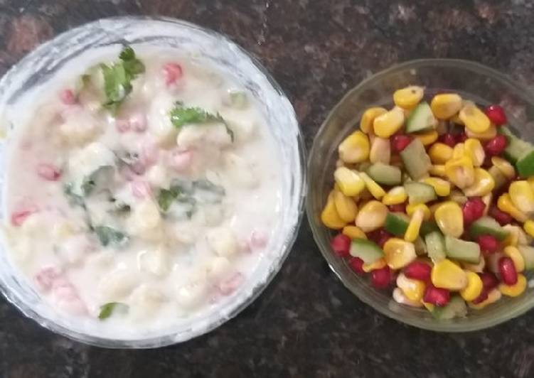 Side dish recepies Apple banana Raita Corn salad Healthy