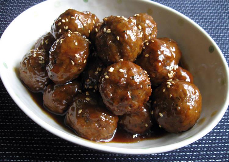 Super Quick Meatballs With Teriyaki Sauce