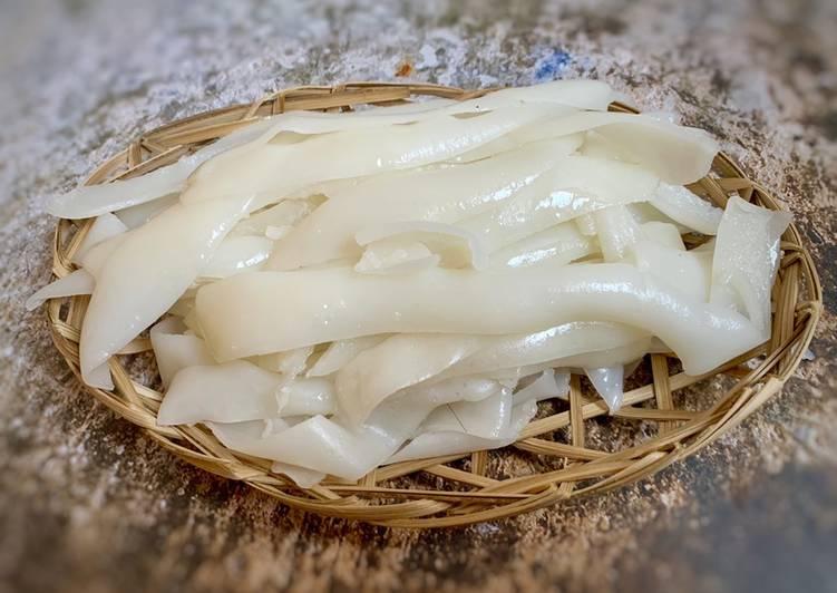 Homemade fresh rice noodles