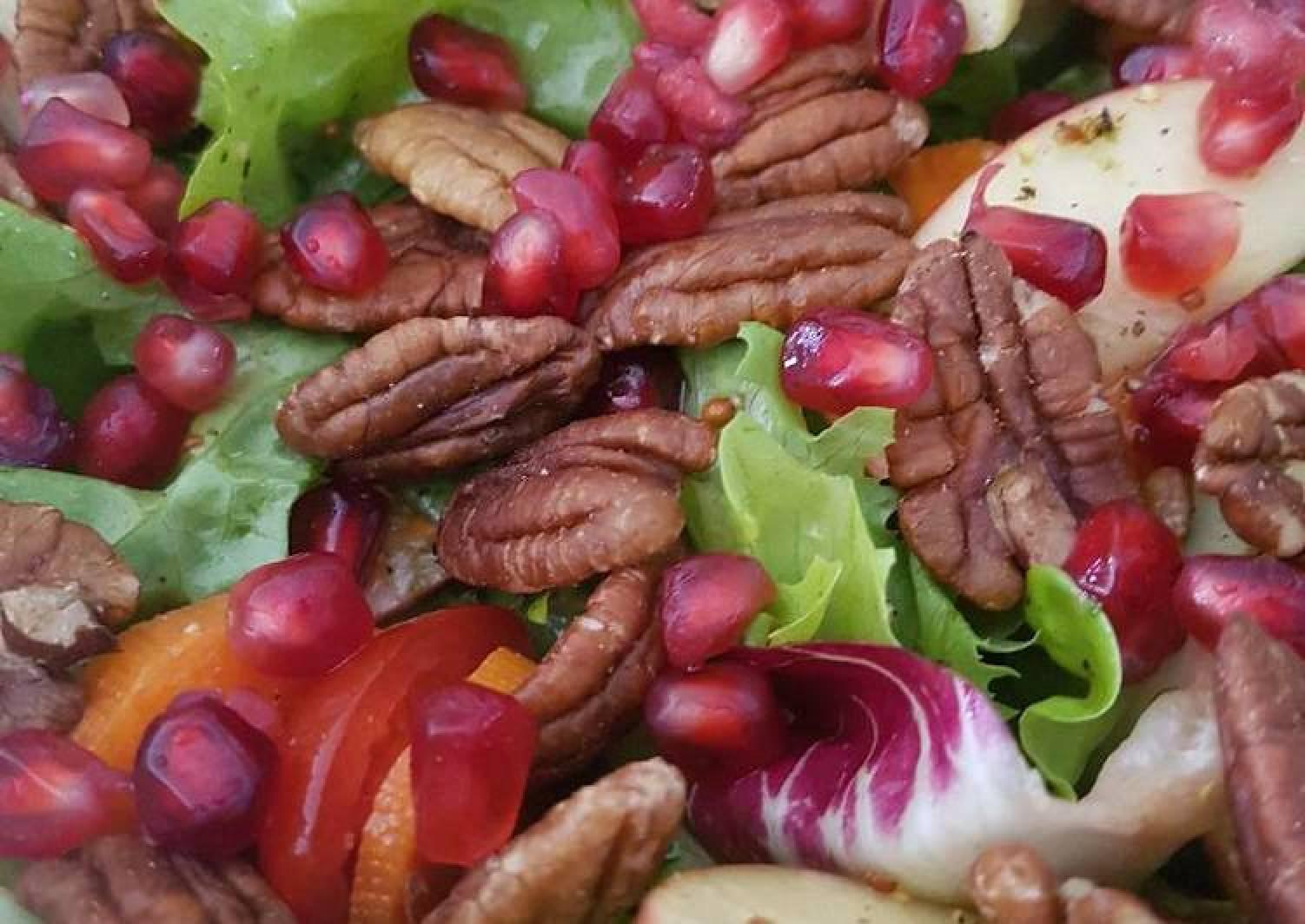 Pomegranate, Pecan, Apple salad