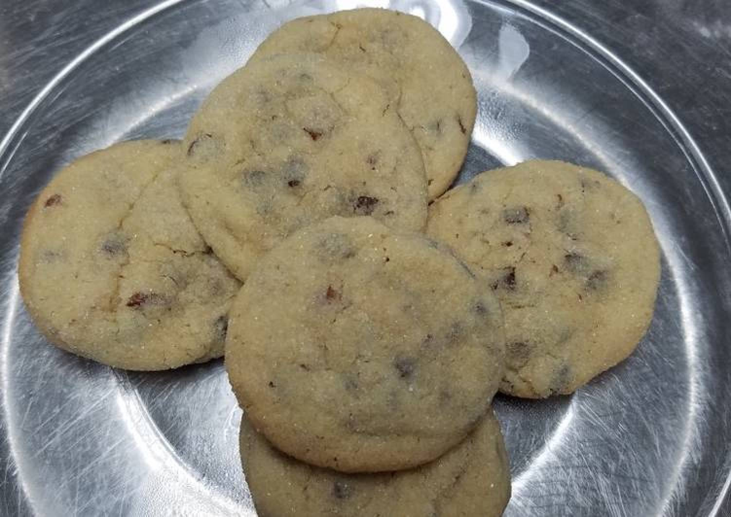 Brown sugar cookies with pecans and chocolate chips