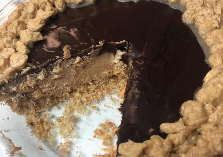 Easiest Way to Prepare Quick Peanut butter Chocolate no Bake Pie