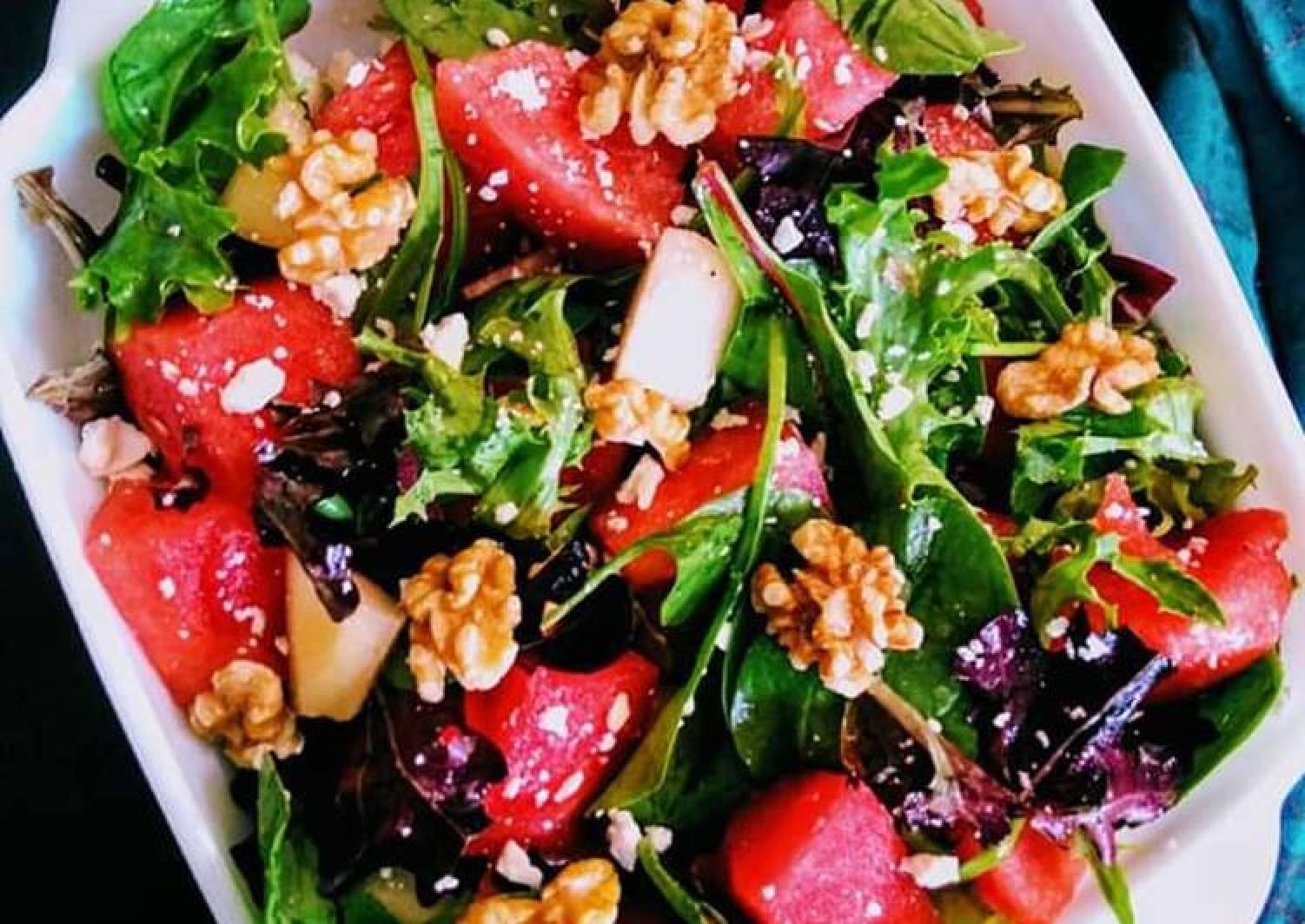 Watermelon & Pears Feta Salad