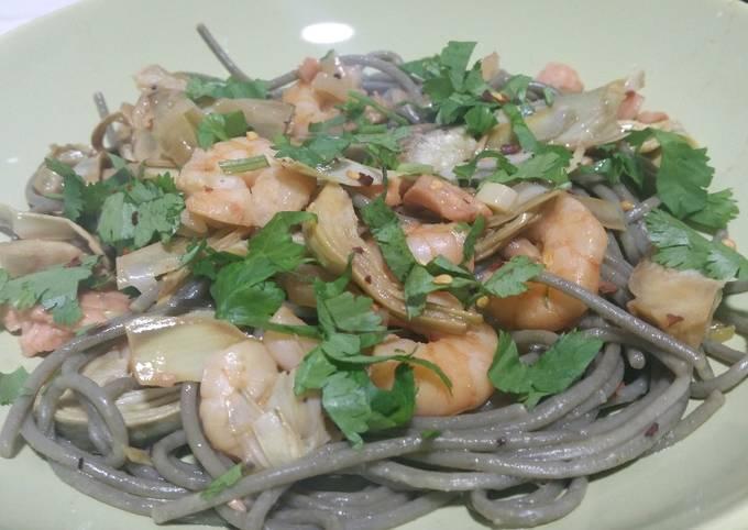 Simple Way to Prepare Tasteful Seafood pasta