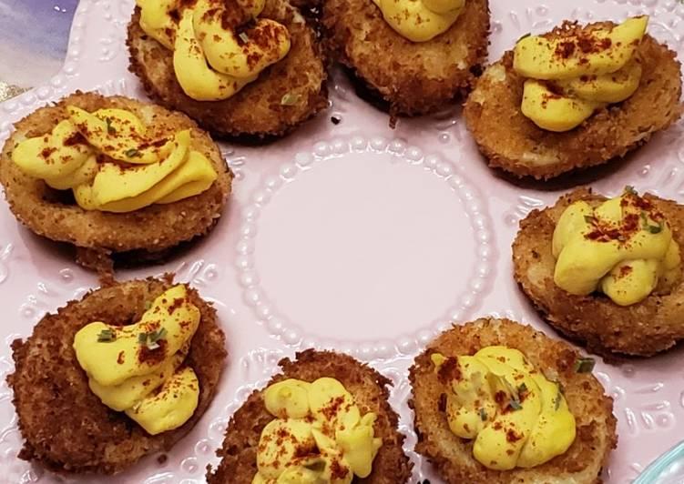Clemson Fried Deviled Eggs