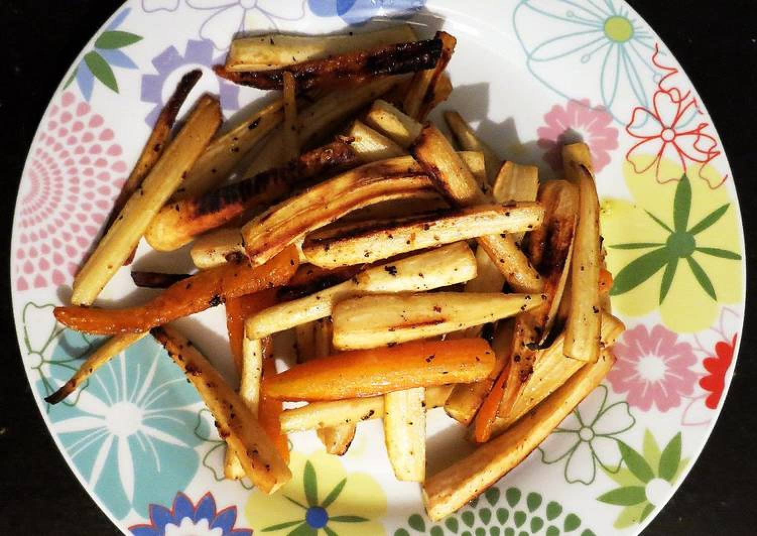 Oven grilled parsnips