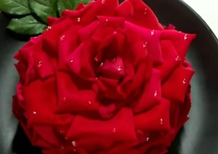 Valentine special Rose cake