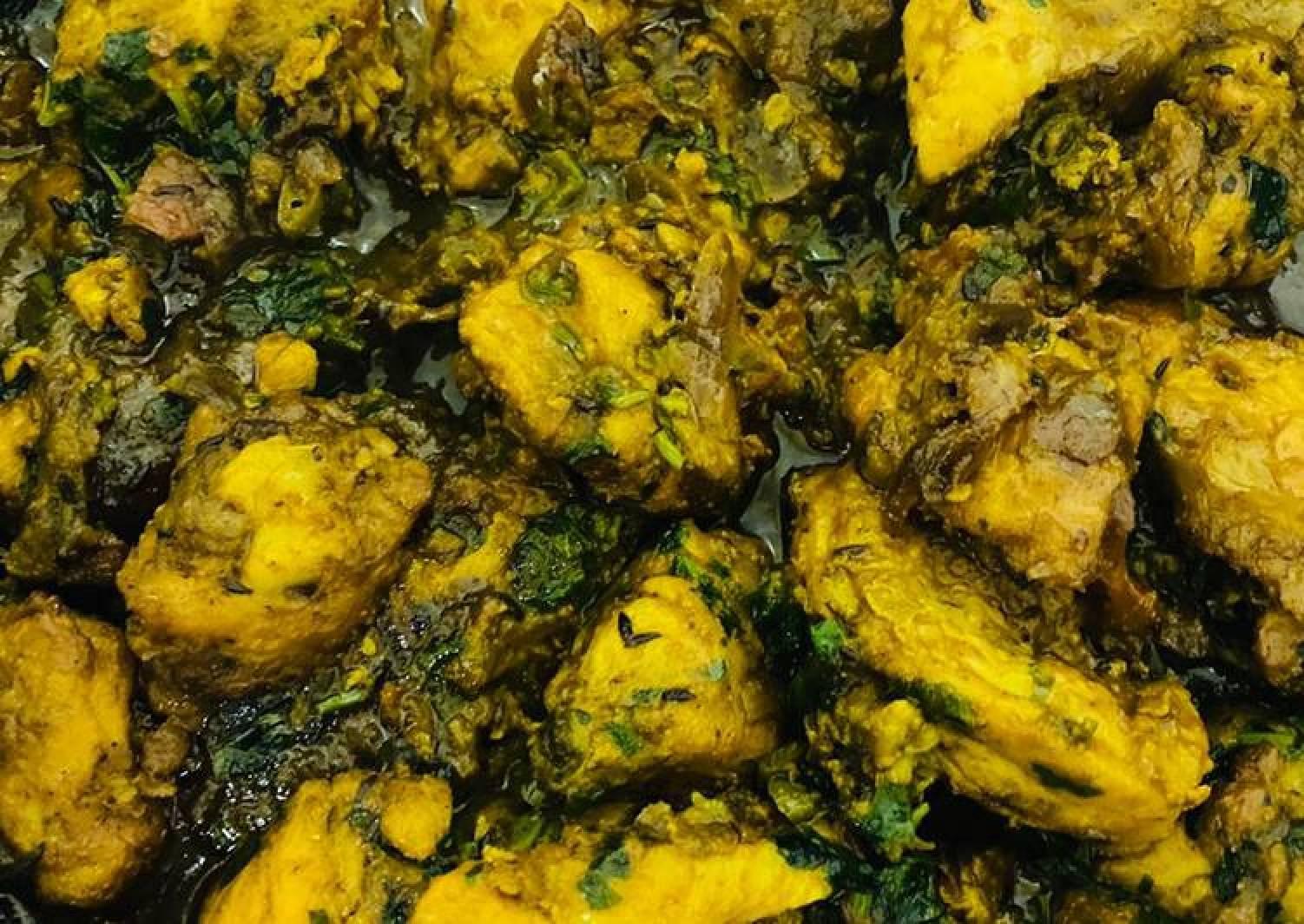 Fresh Methi Chicken (Murgh Curry)